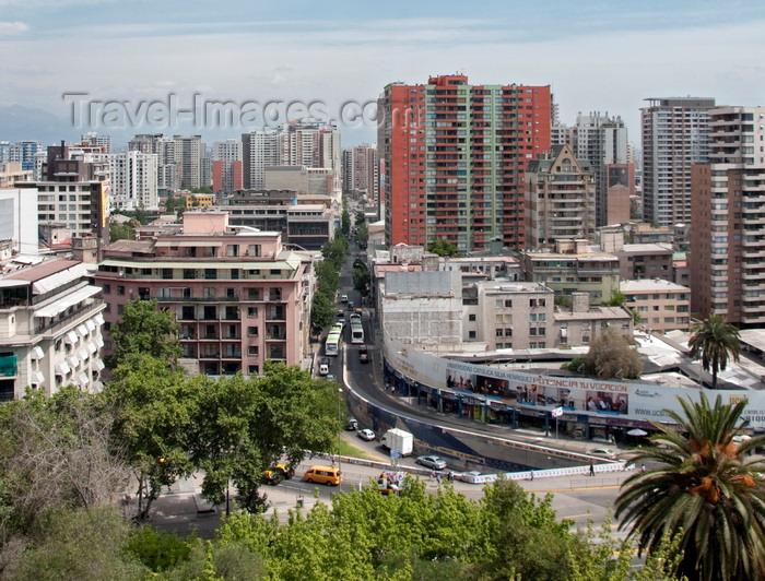 chile284: Santiago de Chile: cityscape - photo by P.Jolivet - (c) Travel-Images.com - Stock Photography agency - Image Bank