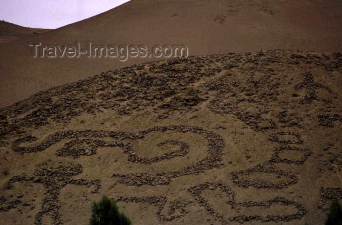 chile34: Chile - Arica: Geoglyphs of Chiza - Atacama desert - Panamericana road - spiral - photo by W.Schipper - (c) Travel-Images.com - Stock Photography agency - Image Bank