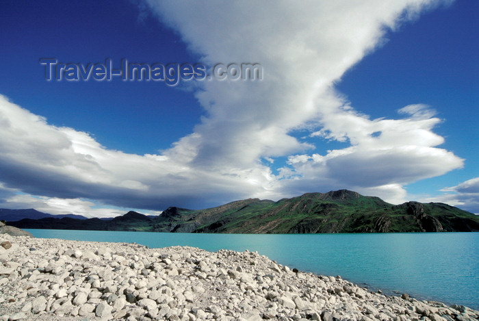 chile46: Torres del Paine National Park, Magallanes region, Chile: dramatic cloud formations above Lake Nordenskjöld - Chilean Patagonia - photo by C.Lovell - (c) Travel-Images.com - Stock Photography agency - Image Bank