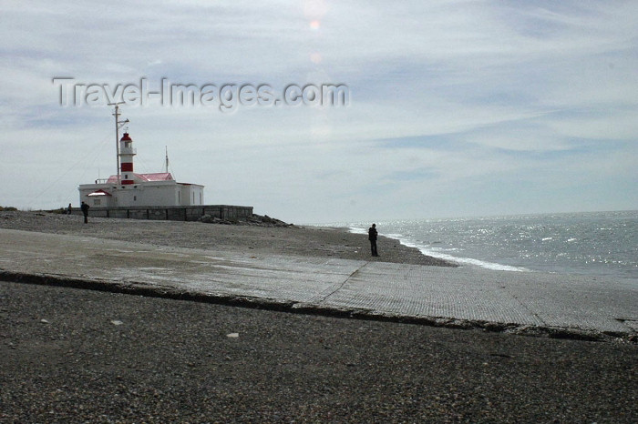 chile83: Chile - Strait of Magellan / Détroit de Magellan / Magellanstraße / Straat Magellaan / Ciesnina Magellana / Estreito de Magalhães - lighthouse / faro / farol - photo by N.Cabana - (c) Travel-Images.com - Stock Photography agency - Image Bank
