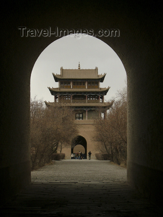 china191: China - Jiayuguan (Hexi Corridor - Gansu province): gate and pagoda - photo by M.Samper - (c) Travel-Images.com - Stock Photography agency - Image Bank