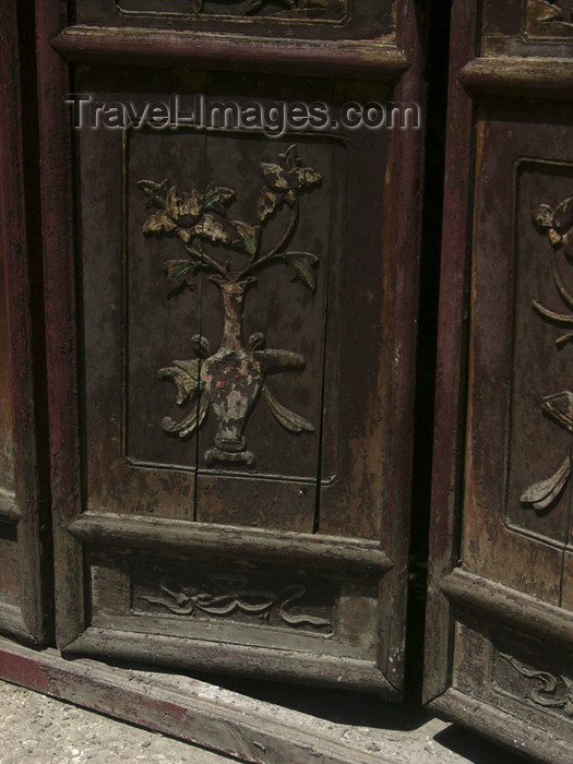 china193: China - Xi'an (capital of Shaanxi province): door of the Great Mosque - photo by M.Samper - (c) Travel-Images.com - Stock Photography agency - Image Bank