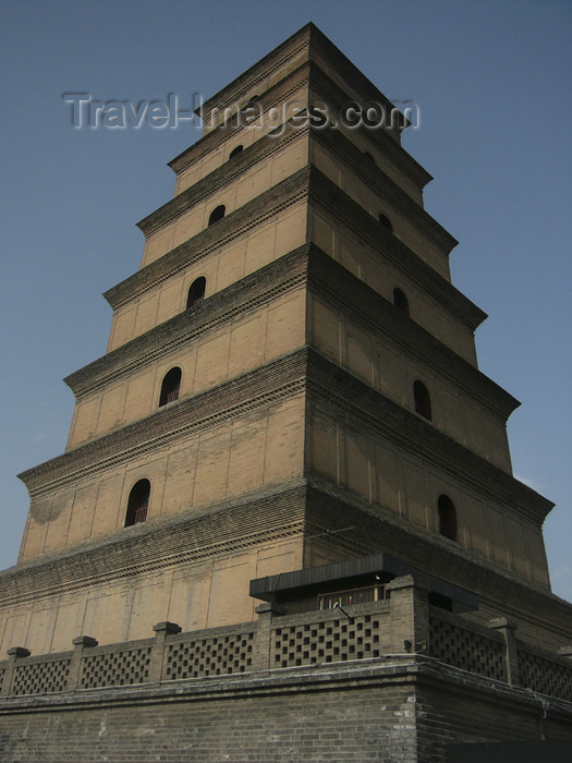 china196: China - Xi'an (capital of Shaanxi province): Big Goose Pagoda - photo by M.Samper - (c) Travel-Images.com - Stock Photography agency - Image Bank