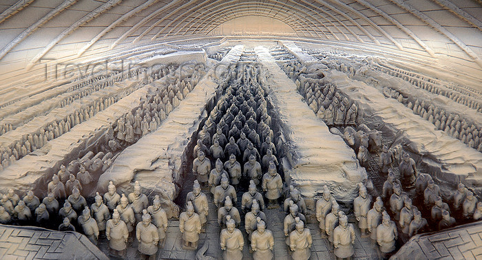 china238: Sculpture of the Terra Cotta Warriors, Xian, China. - (c) Travel-Images.com - Stock Photography agency - Image Bank