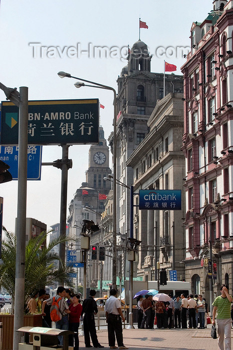 china261: Shanghai, China: the Bund - Huangpu District - foreign banks on Zhongshan Road, western bank of the Huangpu River - photo by Y.Xu - (c) Travel-Images.com - Stock Photography agency - Image Bank