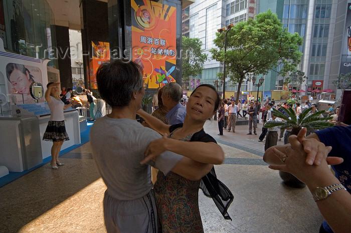 china264: Shanghai, China: Nanjing Road - Morning dancers - Huangpu District - photo by Y.Xu - (c) Travel-Images.com - Stock Photography agency - Image Bank