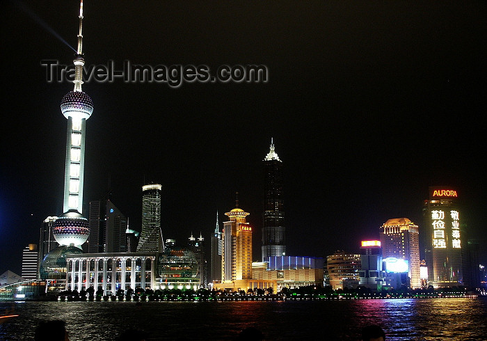 china65: China - Shanghai / SHA: Pudong skyline - nocturnal - Oriental Pearl Tower - photo by G.Friedman - (c) Travel-Images.com - Stock Photography agency - Image Bank