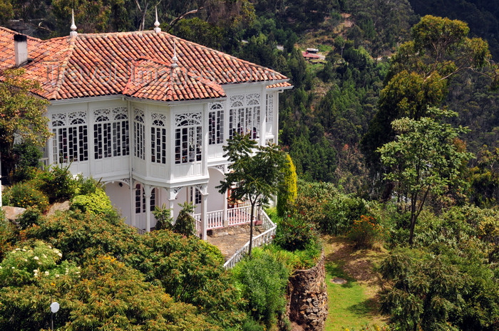 colombia107: Bogotá, Colombia: Monserrate Hill - Casa Santa Clara Restaurant and forest - Cerro de Monserrate - Santa Fe - photo by M.Torres - (c) Travel-Images.com - Stock Photography agency - Image Bank