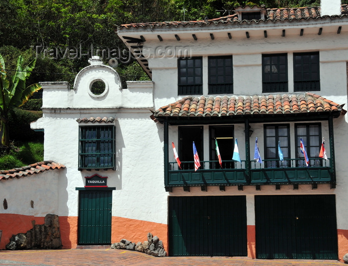 colombia112: Bogotá, Colombia: funicular ticket office - base of Monserrate Hill - taquilla - Santa Fe - photo by M.Torres - (c) Travel-Images.com - Stock Photography agency - Image Bank