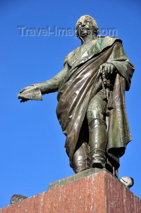 colombia115: Bogotá, Colombia: statue of Francisco de Paula Santander, President of the Republic of the New Granada - Parque Santander - Veracruz - Santa Fe - photo by M.Torres - (c) Travel-Images.com - Stock Photography agency - Image Bank