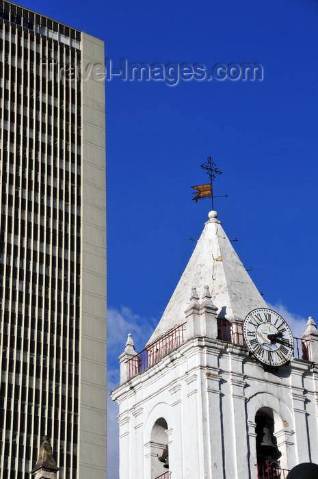 colombia122: Bogotá, Colombia: bell tower of Iglesia de San Francisco and Torre Avianca, view from Avenida Jiménez - barrio Veracruz - Santa Fe - photo by M.Torres - (c) Travel-Images.com - Stock Photography agency - Image Bank
