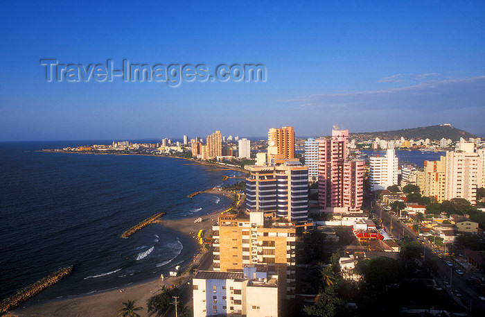 colombia13: Colombia - Cartagena, Bolívar Department: Bocagrande - new city looking towards the old - Caribbean sea - photo by D.Forman - (c) Travel-Images.com - Stock Photography agency - Image Bank