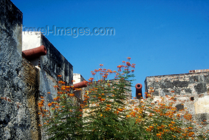 colombia14: Colombia - Cartagena: old cannons on the city wall - UNESCO World Heritage Site - photo by D.Forman - (c) Travel-Images.com - Stock Photography agency - Image Bank