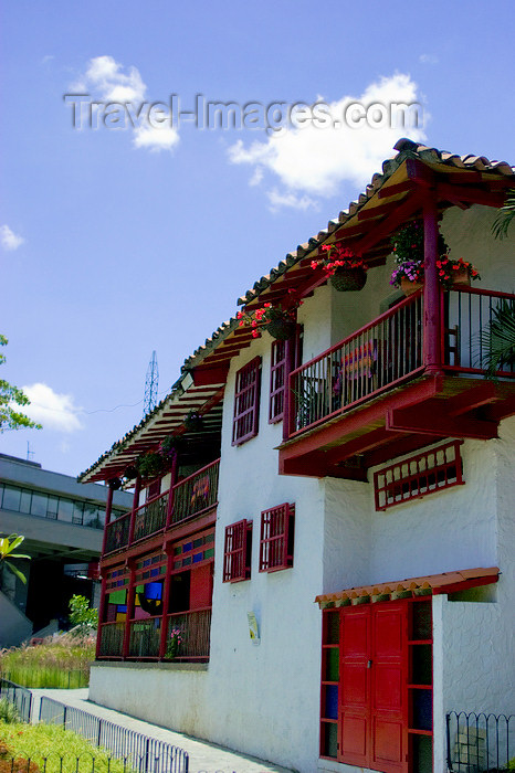 colombia21: Medellín, Colombia: colonial façades at Pueblito Paisa - photo by E.Estrada - (c) Travel-Images.com - Stock Photography agency - Image Bank