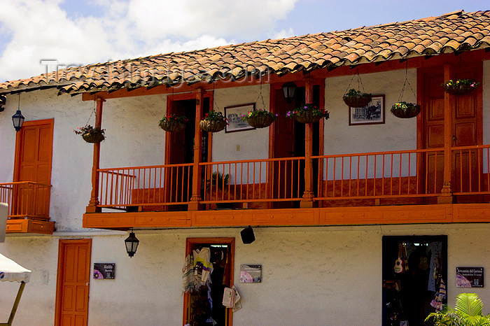 colombia23: Medellín, Colombia: balconies of a colonial building, picturesque architecture of Antioquia that evokes the memory of the Colombian colonial period - Pueblito Paisa - photo by E.Estrada - (c) Travel-Images.com - Stock Photography agency - Image Bank