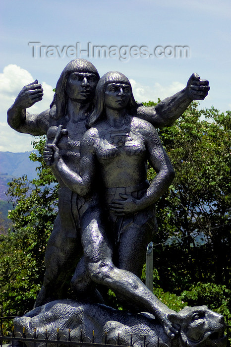 colombia27: Medellín, Colombia: statue of Cacique Nutibara, Colombian indigenous hero - sculptor José Horacio Betancur - Pueblito Paisa - Cerro Nutibara - photo by E.Estrada - (c) Travel-Images.com - Stock Photography agency - Image Bank