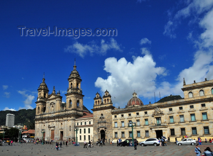 colombia38: Bogotá, Colombia: Plaza Bolivar - Cathedral, Chapel of the Blessed Sacrament and the Archbishop's Palace - Catedral Primada, Capilla del Sagrario, Palacio Arzobispal - La Candelaria - photo by M.Torres - (c) Travel-Images.com - Stock Photography agency - Image Bank