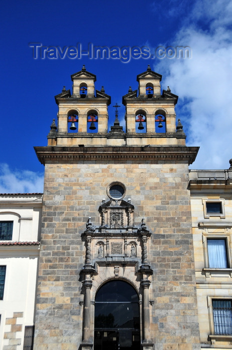 colombia41: Bogotá, Colombia: Plaza Bolivar - Capilla del Sagrario - door with a semicircular arch with rusticated voussoirs, flanked by spiraled columns - La Candelaria - photo by M.Torres - (c) Travel-Images.com - Stock Photography agency - Image Bank