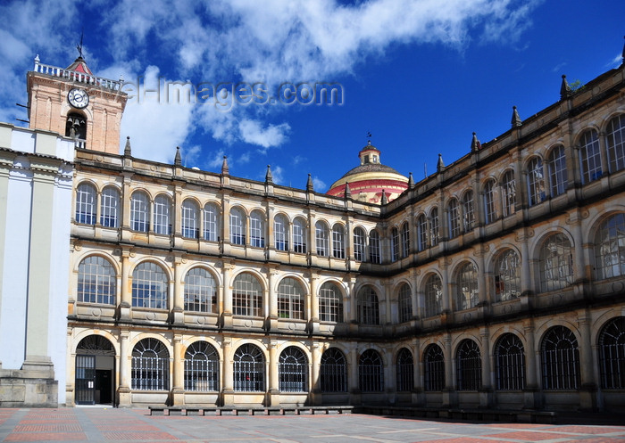 colombia43: Bogotá, Colombia: Colegio Mayor de San Bartolomé - secondary school, formerly a university, established by the Jesuits in 1604 - Iglesia de San Ignacio in the background - Centro Administrativo - La Candelaria - photo by M.Torres - (c) Travel-Images.com - Stock Photography agency - Image Bank