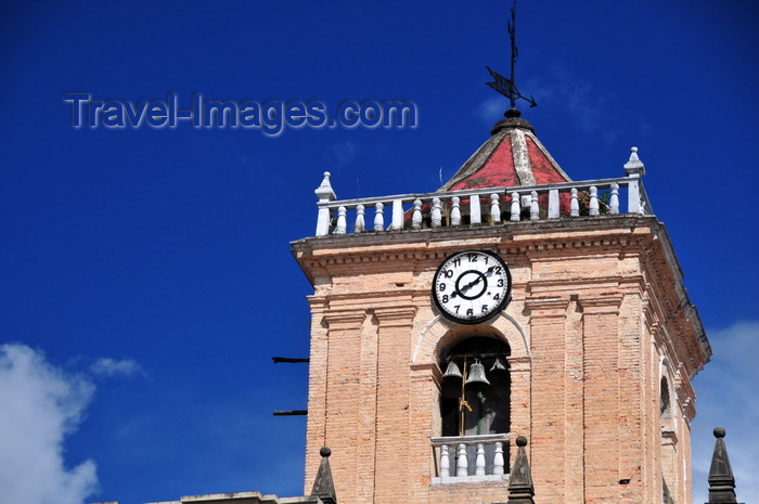 colombia45: Bogotá, Colombia: church of Saint Ignatius - bell tower of Iglesia de San Ignacio seen from Camilo Torres square - by Italian Jesuit architect Juan Bautista Coluccini - Centro Administrativo - La Candelaria - photo by M.Torres - (c) Travel-Images.com - Stock Photography agency - Image Bank