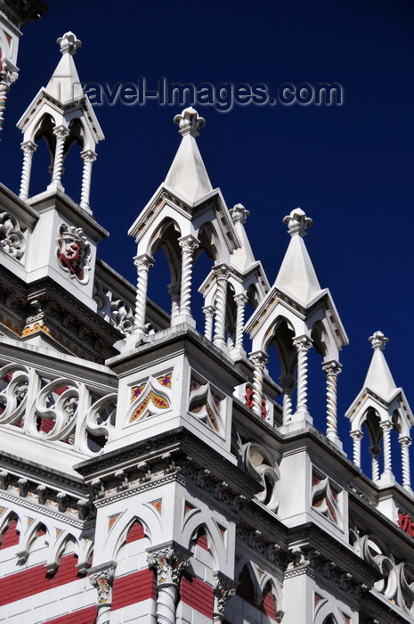colombia54: Bogotá, Colombia: Iglesia del Carmen - decorative turrets - Centro Administrativo - La Candelaria - photo by M.Torres - (c) Travel-Images.com - Stock Photography agency - Image Bank