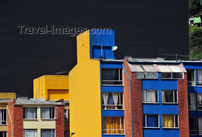 colombia71: Bogotá, Colombia: colourful residential buildings by the University of the los Andes - barrio Las Aguas - La Candelaria - photo by M.Torres - (c) Travel-Images.com - Stock Photography agency - Image Bank