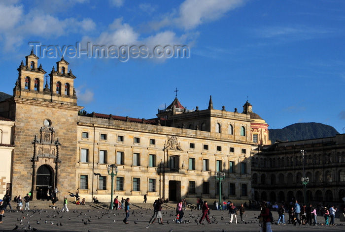 colombia73: Bogotá, Colombia: Plaza Bolivar, the Plaza Mayor of colonial times - Capilla de Sagrario, Archbishop's palace and San Bartolomé College - La Candelaria - photo by M.Torres - (c) Travel-Images.com - Stock Photography agency - Image Bank