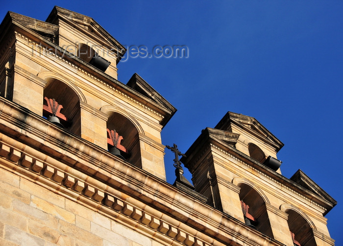 colombia81: Bogotá, Colombia: Plaza Bolivar - bells atop the Capilla del Sagrario - architecture of the New Kingdom of Granada - prepared ashlar - La Candelaria - photo by M.Torres - (c) Travel-Images.com - Stock Photography agency - Image Bank