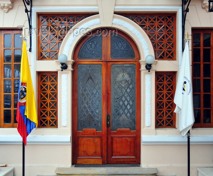 colombia87: Bogotá, Colombia: Colombian Free Masonry - entance to Grand Lodge of Colombia - Gran Logia de Colombia - Casa Kopp D'Avila - architect Alberto Manrique Martin - Calle 18 - Veracruz - Santa Fe - photo by M.Torres - (c) Travel-Images.com - Stock Photography agency - Image Bank
