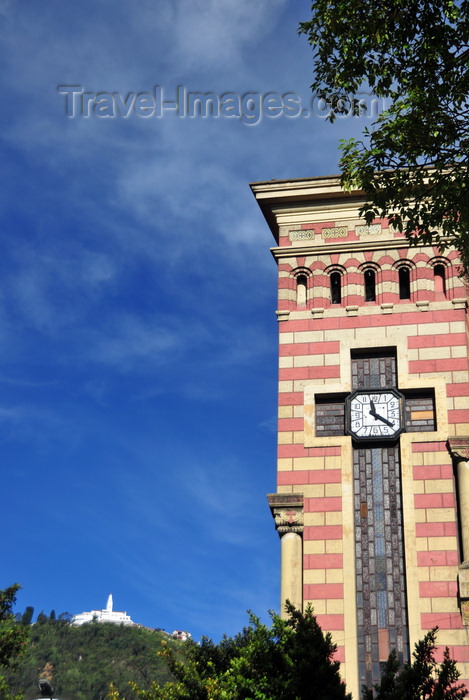 colombia94: Bogotá, Colombia: clock tower of the Iglesia de Las Nieves - Carrera séptima - barrio Las Nieves - Santa Fe - photo by M.Torres - (c) Travel-Images.com - Stock Photography agency - Image Bank