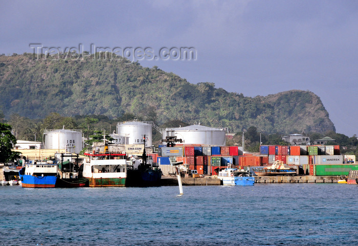 comoros33: Moroni, Grande Comore / Ngazidja, Comoros islands: oil depot and the port, near the old airport - Comores Hydrocarbures - photo by M.Torres - (c) Travel-Images.com - Stock Photography agency - Image Bank