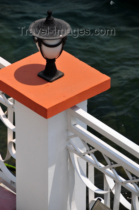 congo-dr33: Goma, Nord-Kivu, Democratic Republic of the Congo: lantern and pillar on Lake Kivu - Kap Kivu Hotel - photo by M.Torres - (c) Travel-Images.com - Stock Photography agency - Image Bank