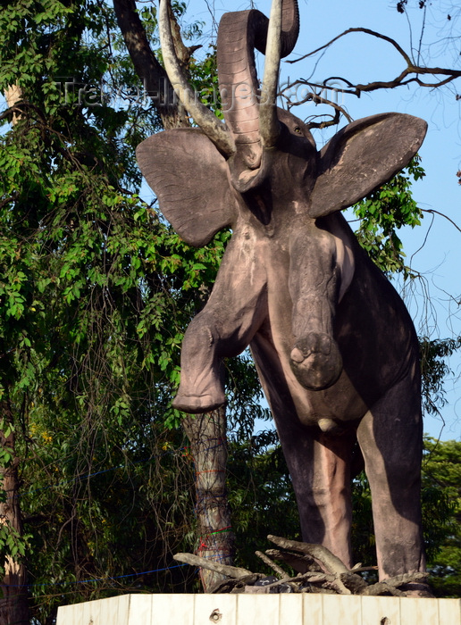 congo105: Brazzaville, Congo: elephant sculpture on the airport road, near Patte d'Oie Forestry Reserve, symbol of the preservation of fauna and flora in the Congo - photo by M.Torres - (c) Travel-Images.com - Stock Photography agency - Image Bank