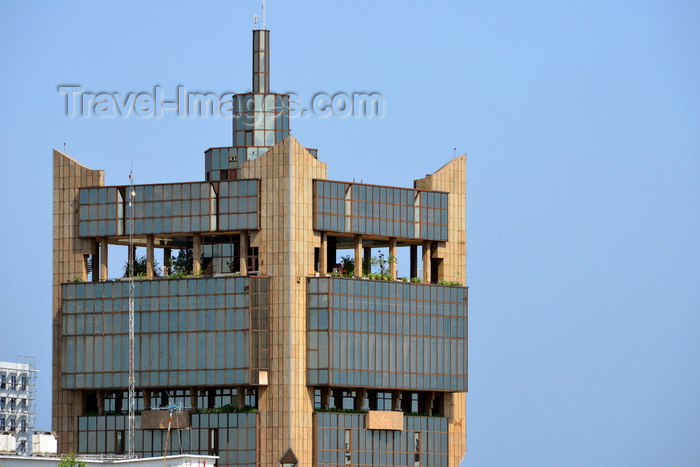 congo62: Brazzaville, Congo: BEAC building - Bank of Central African States, central bank of the countries of the Economic and Monetary Community of Central Africa - top floors with garden - Banque des États de l'Afrique Centrale -  photo by M.Torres - (c) Travel-Images.com - Stock Photography agency - Image Bank