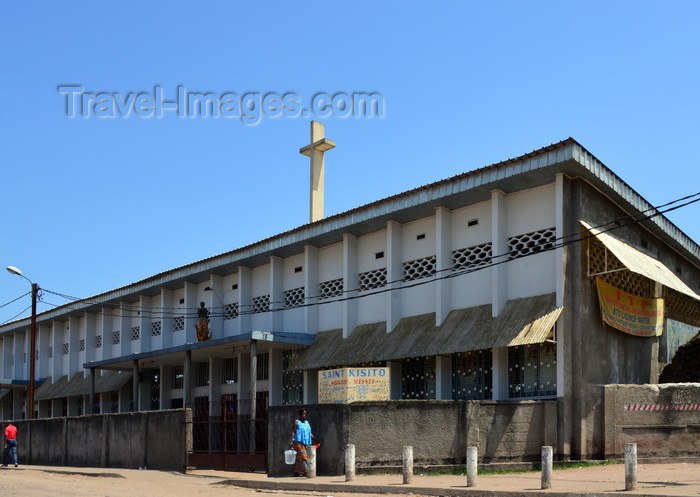 congo84: Brazzaville, Congo: Saint Kisito Catholic church, Avenue de Djoué and Avenue Bouéta Mbongo, Makélékélé - Saint Kizito was one of the Martyrs of Uganda, burned alive by King Mwanga II of Buganda - photo by M.Torres - (c) Travel-Images.com - Stock Photography agency - Image Bank