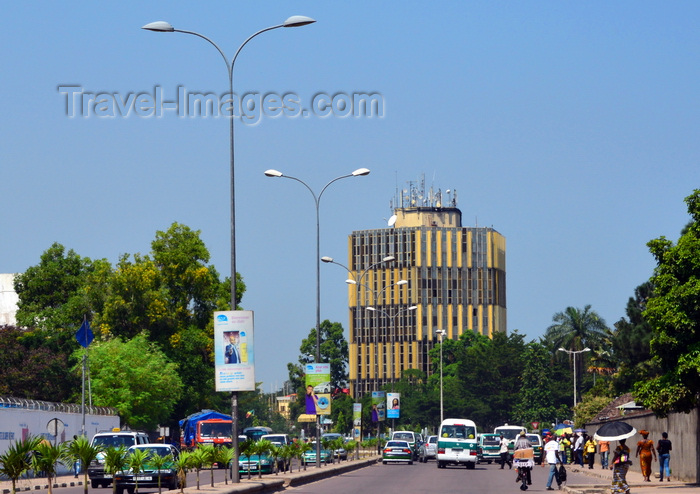 congo96: Brazzaville, Congo: Ministry of Planning tower seen from the Djoué avenue - photo by M.Torres - (c) Travel-Images.com - Stock Photography agency - Image Bank