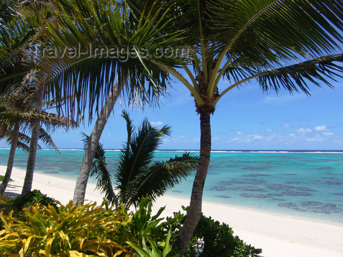 cook38: Cook Islands - Rarotonga island: Titikaveka beach - photo by B.Goode - (c) Travel-Images.com - Stock Photography agency - Image Bank