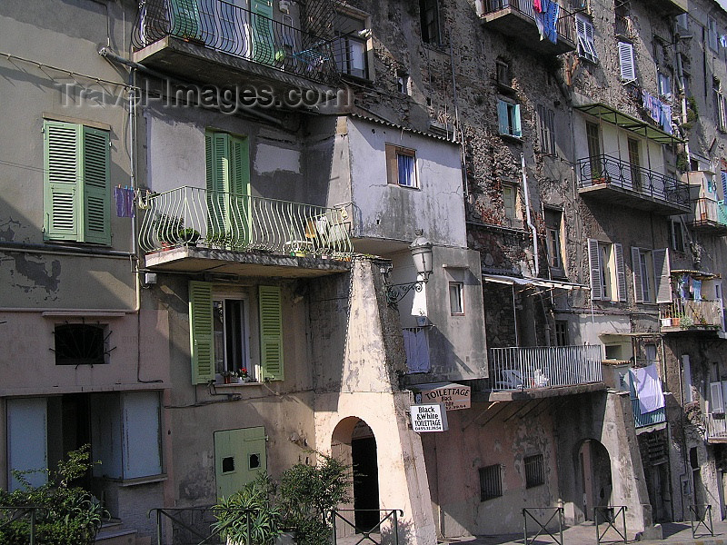 corsica169: Corsica - Bastia: neglected houses - photo by J.Kaman - (c) Travel-Images.com - Stock Photography agency - Image Bank