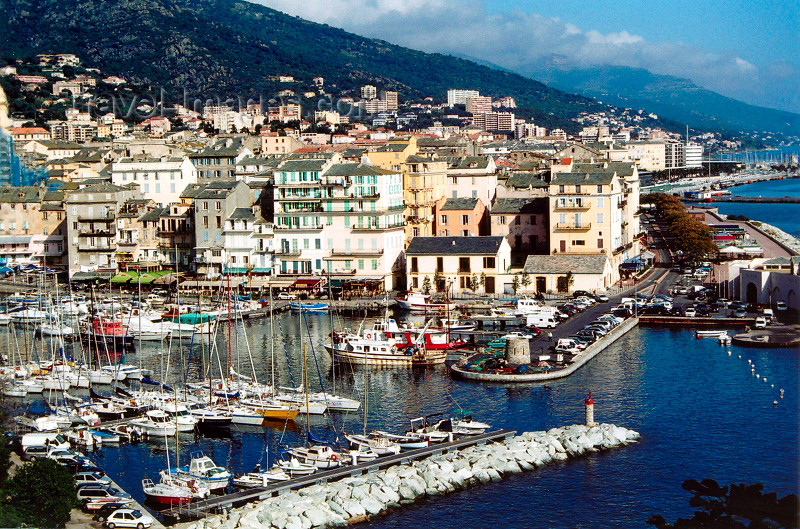 corsica176: Corsica - Bastia: vieux port seen from the citadel - Blick von Terra Nova in den alten Hafen - photo by M.Torres - (c) Travel-Images.com - Stock Photography agency - Image Bank