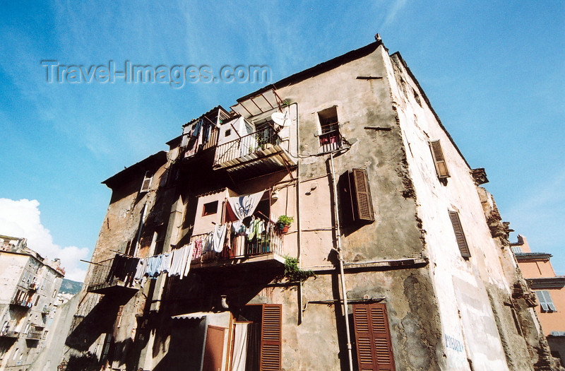 corsica178: Corsica - Bastia: derelict buildings - Terra Vecchia - photo by M.Torres - (c) Travel-Images.com - Stock Photography agency - Image Bank