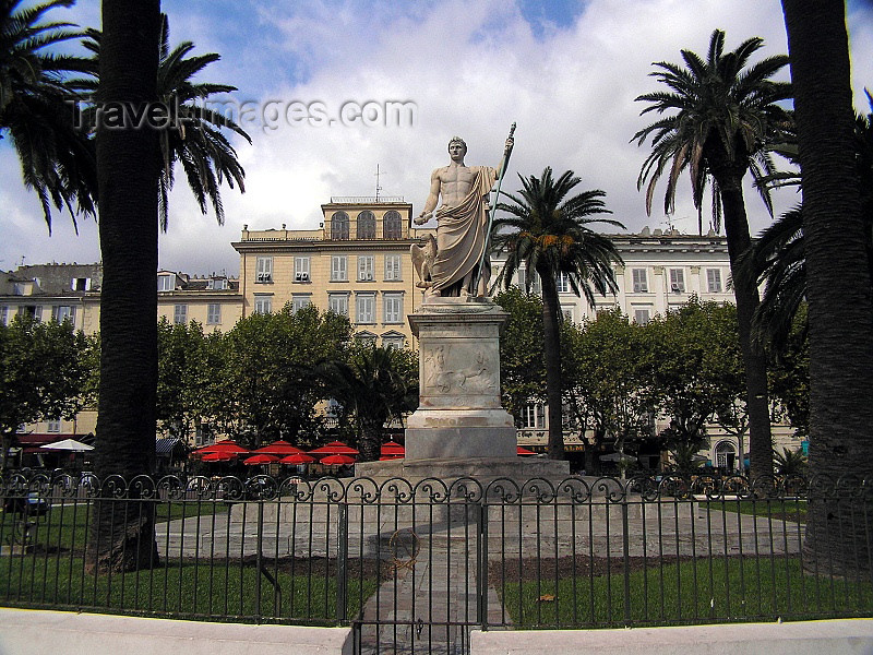 corsica184: Corsica - Bastia: Napoleon's monument at Place St Nicolas - photo by J.Kaman - (c) Travel-Images.com - Stock Photography agency - Image Bank