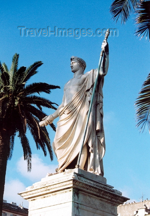 corsica186: Corsica - Bastia: Napoleon's monument at Place St Nicolas  - Napoleon Premier - photo by M.Torres - (c) Travel-Images.com - Stock Photography agency - Image Bank