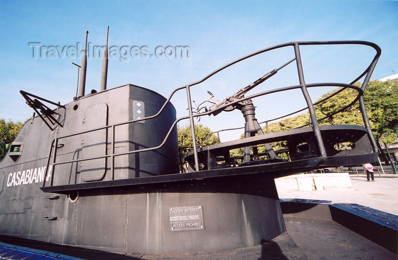 corsica187: Corsica - Bastia: submarine tower - turret - the Casabianca - WWII French navy submarine - photo by J.Kaman - (c) Travel-Images.com - Stock Photography agency - Image Bank