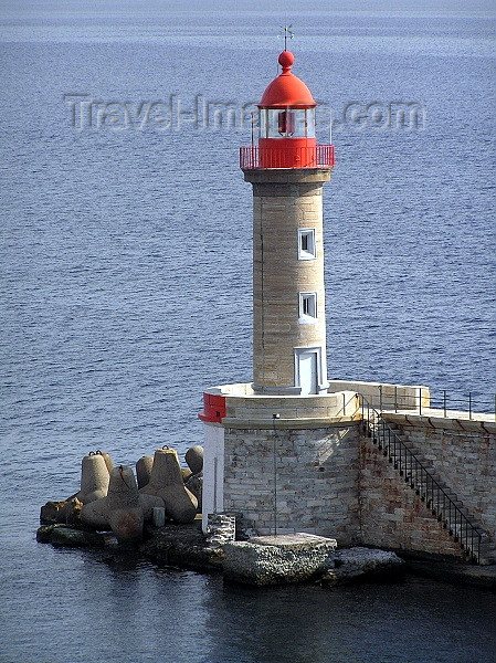 corsica5: Corsica / Corse - Bastia: lighthouse - photo by J.Kaman - (c) Travel-Images.com - Stock Photography agency - Image Bank