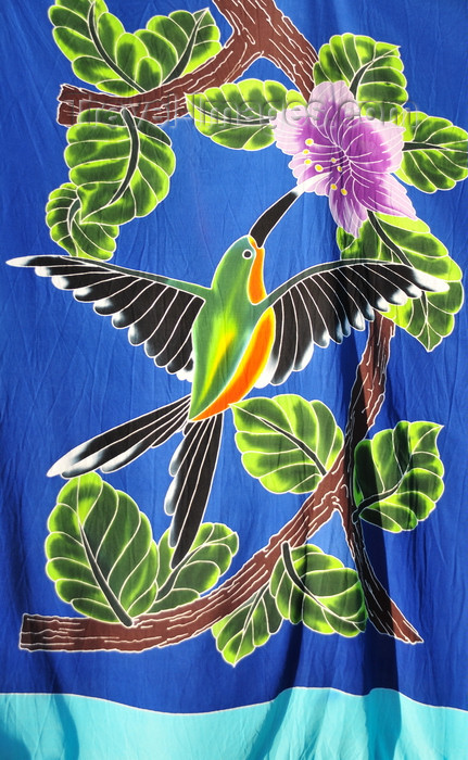 costa-rica110: Manuel António, Puntarenas province, Costa Rica: pareo - wraparound skirt - colibri - photo by M.Torres - (c) Travel-Images.com - Stock Photography agency - Image Bank