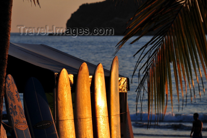 costa-rica117: Manuel António, Puntarenas province, Costa Rica: surf boards at sunset - photo by M.Torres - (c) Travel-Images.com - Stock Photography agency - Image Bank