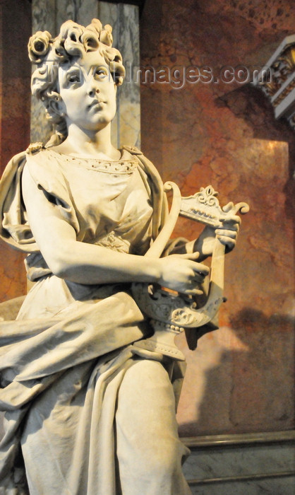 costa-rica2: San José, Costa Rica: National Theater - Teatro Nacional de Costa Rica - muse playing lyre in the vestibule - photo by M.Torres - (c) Travel-Images.com - Stock Photography agency - Image Bank