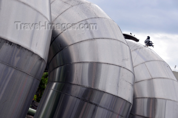 costa-rica33: San José, Costa Rica: Plaza de la Cultura - Gold museum ventilation pipes - photo by M.Torres - (c) Travel-Images.com - Stock Photography agency - Image Bank
