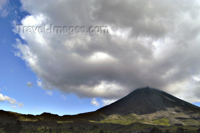 costa-rica37: Costa Rica - Arenal Volcano and cloud formation, Cano Negro National Park - Alajuela Province - photo by B.Cain - (c) Travel-Images.com - Stock Photography agency - Image Bank