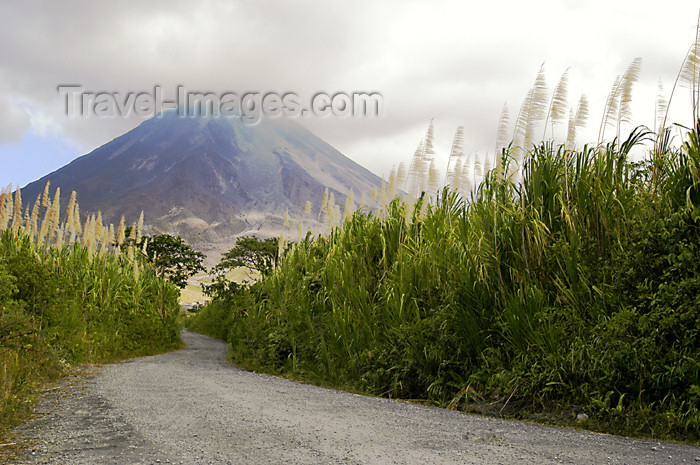 costa-rica38: Costa Rica - Arenal Volcano and road - Cerro de los Guatusos, Cano Negro National park - photo by B.Cain - (c) Travel-Images.com - Stock Photography agency - Image Bank